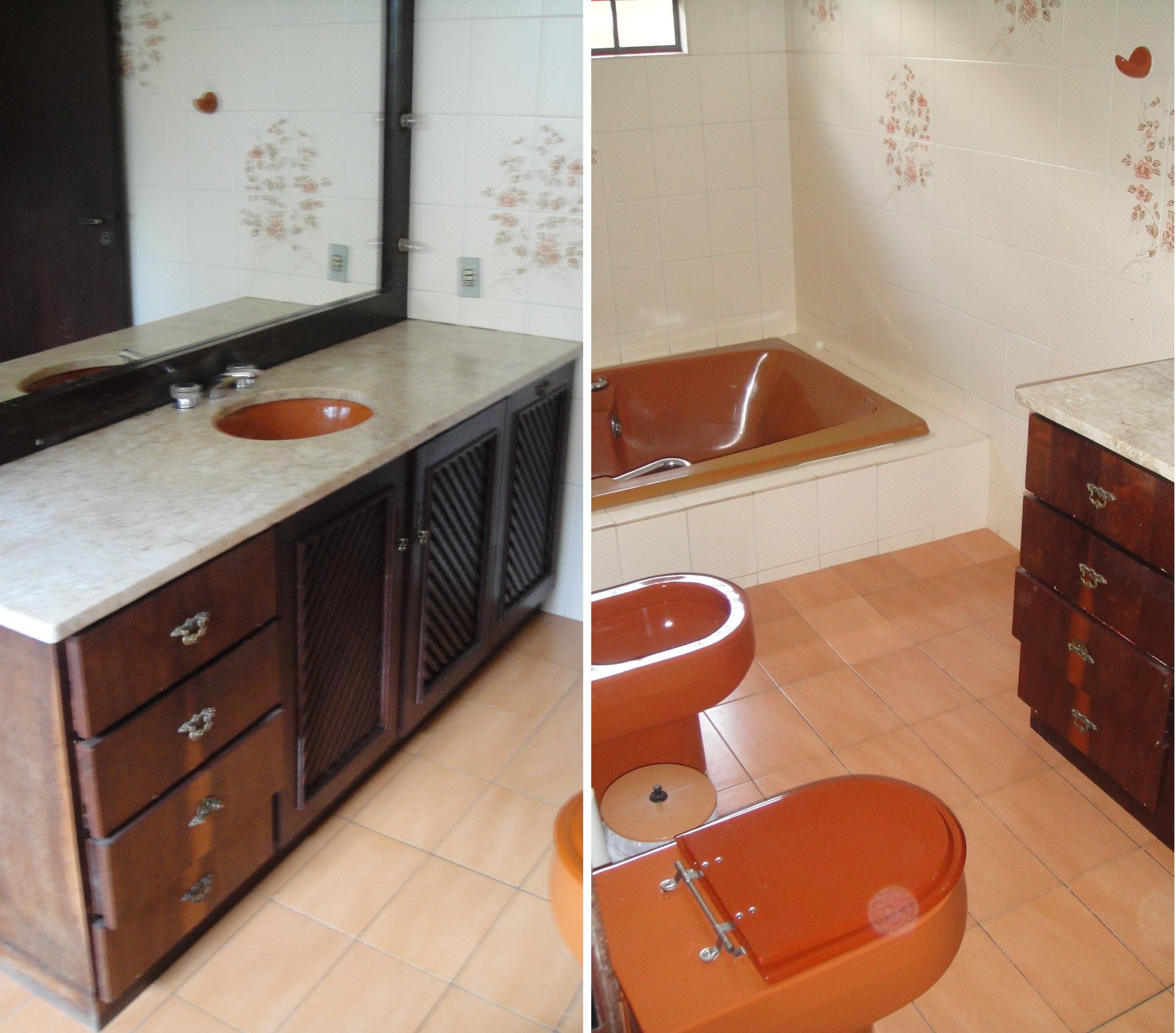 Antes e depois – Reforma de banheiro Arquiteta Elis #B0431B 2178 1913